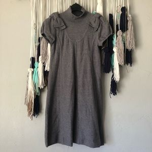 Moth - Anthropologie Sweater Dress Grey Mini